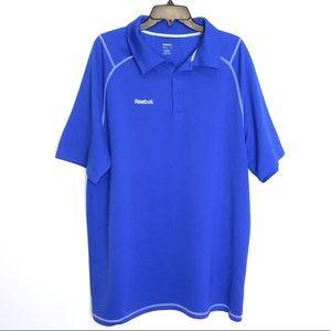 Men's Reebok Golf Polo Short Sleeve Blue Size 2XL